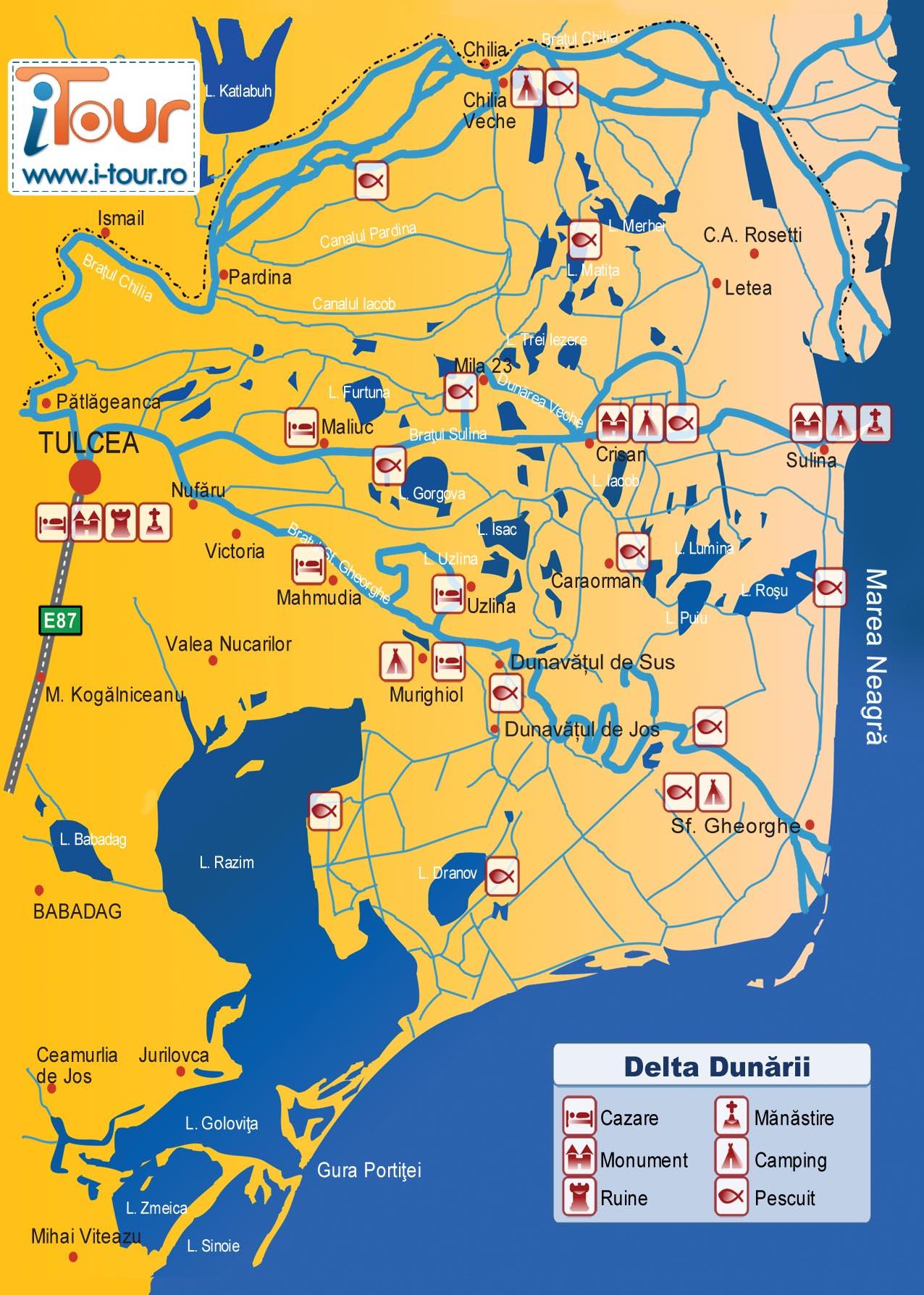 Harta Delta i-Tour