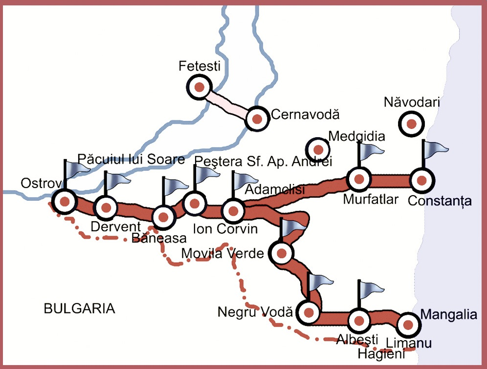 Traseu Constanta sau Mangalia - Adamclisi