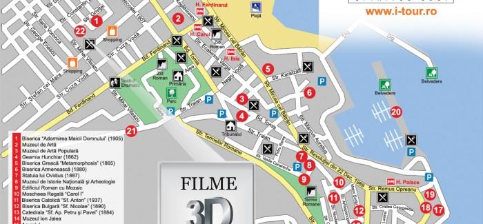 Harta obiectivelor turistice din Constanta