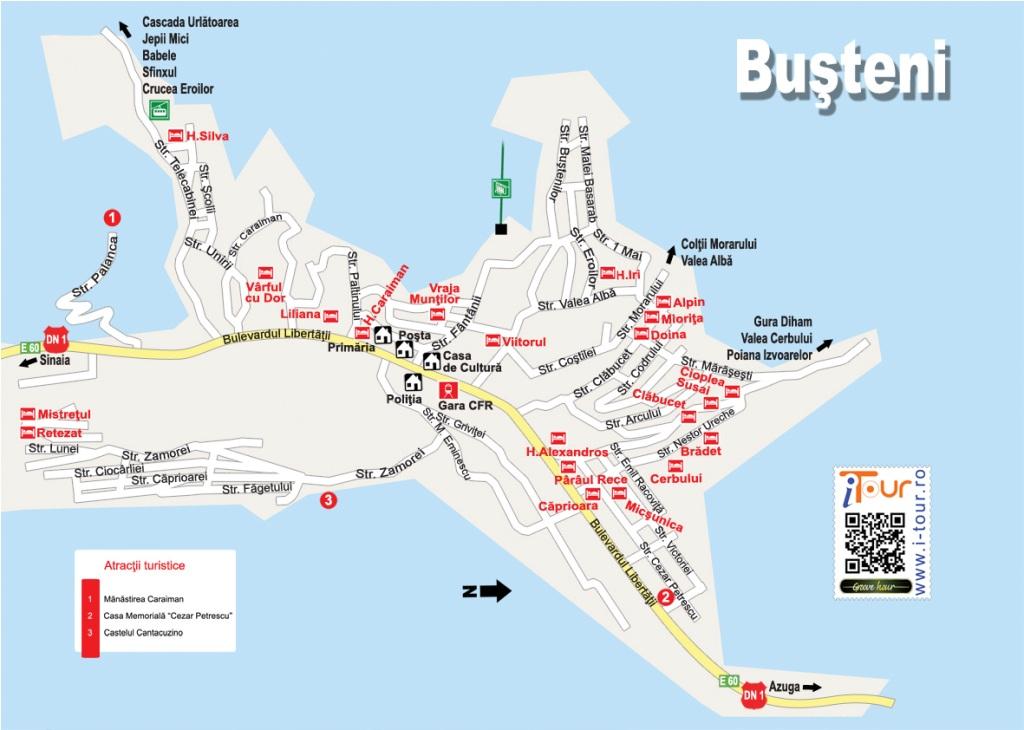 Harta Busteni obiective turistice