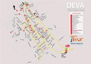 Harta Deva obiective turistice
