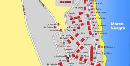 Harta Eforie Nord