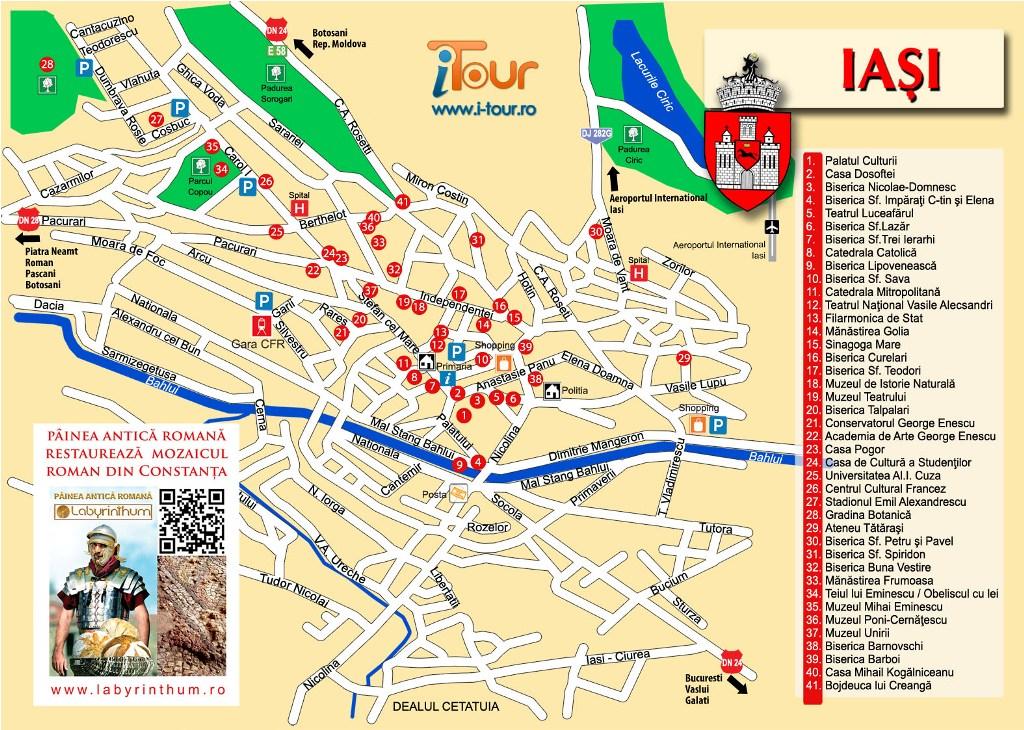 Harta Iasi obiective turistice