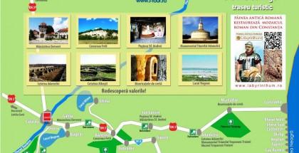 Harta Traseu Bucuresti-Constanta