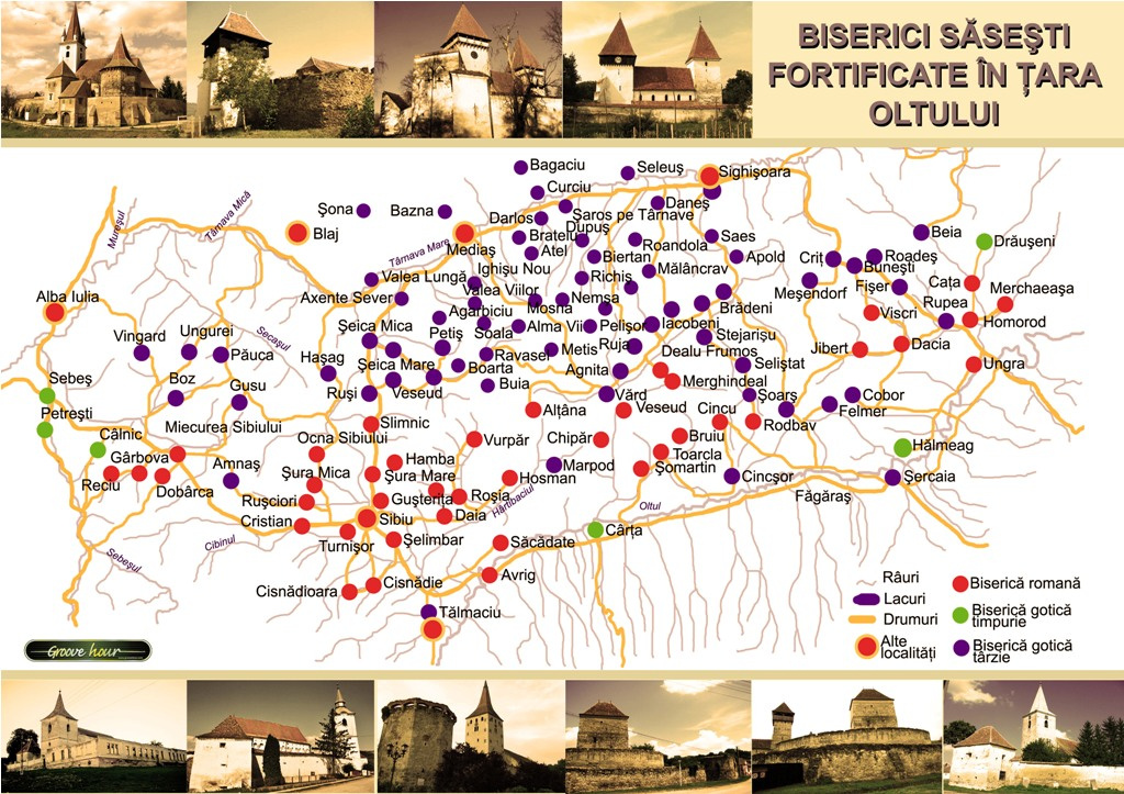Harta biserici fortificate din Transilvania