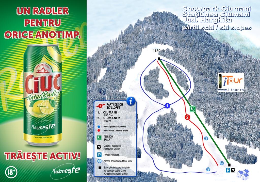 Harta Snowpark Ciumani, Harghita