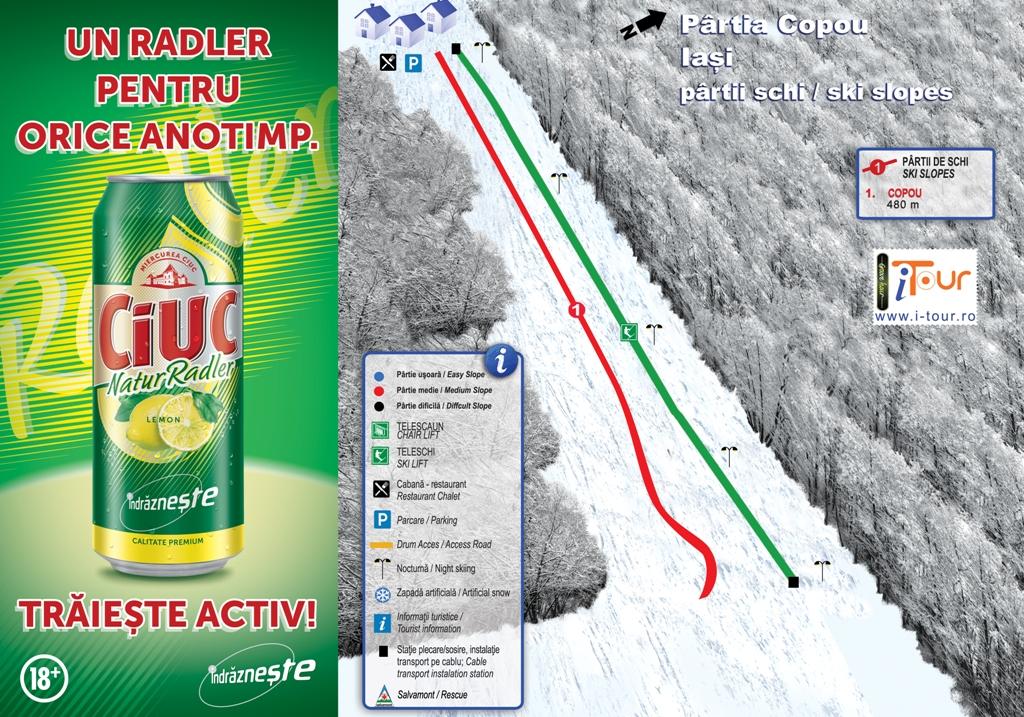 Harta partie schi Copou, Iasi