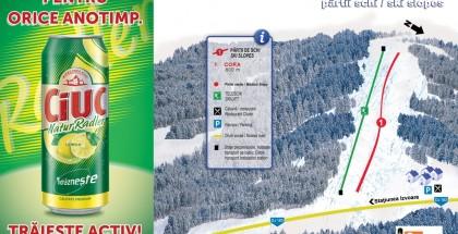 Harta partie schi Cora, Izvoare, Maramures