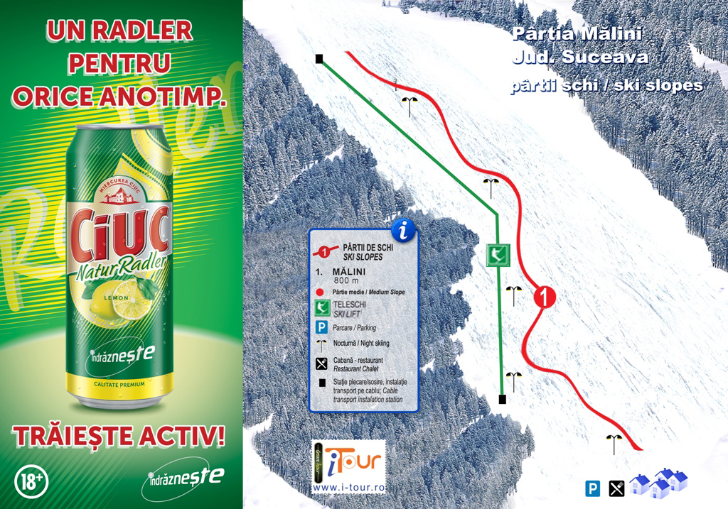 Harta partie schi Malini, Suceava