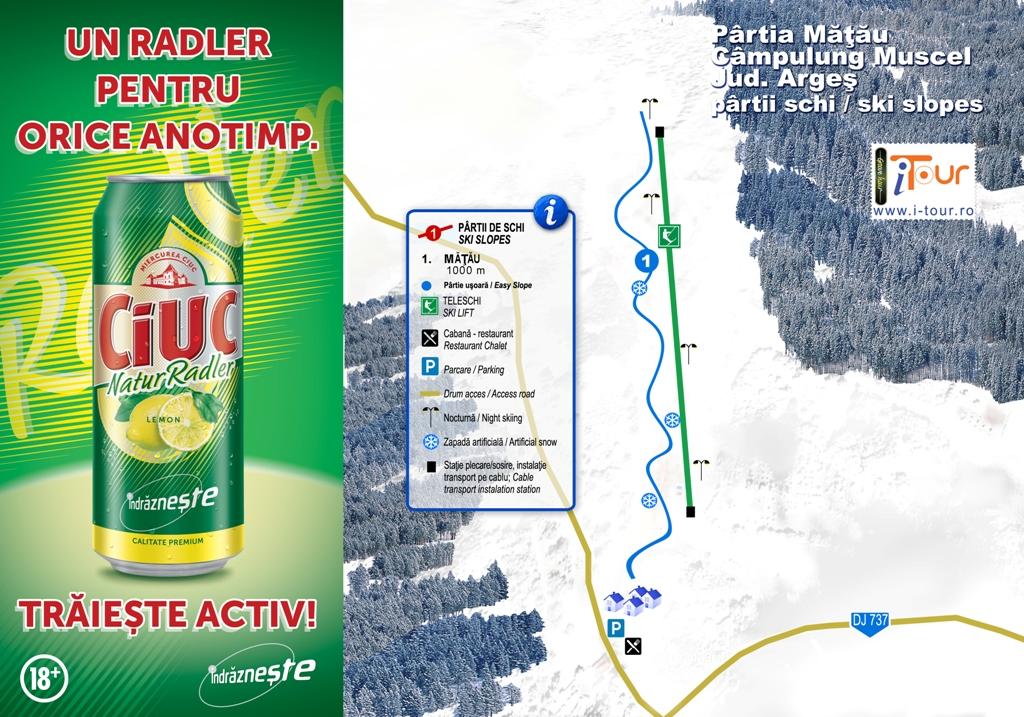 Harta partie schi Matau, Campulung, Arges