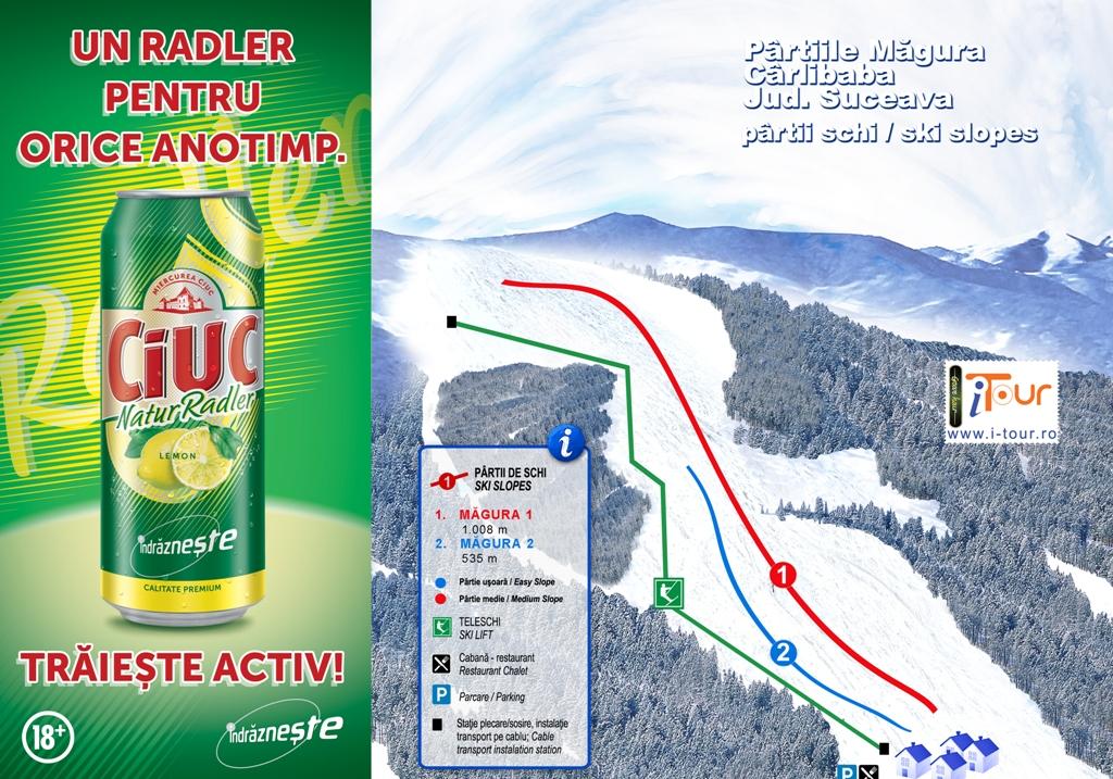 Harta partii schi Magura Carlibaba, Suceava