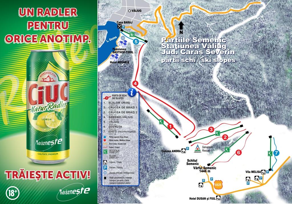 Harta partii schi Semenic, Caras-Severin