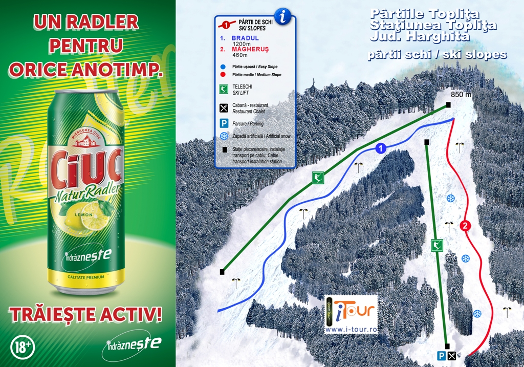 Harta partii schi Toplita, Harghita