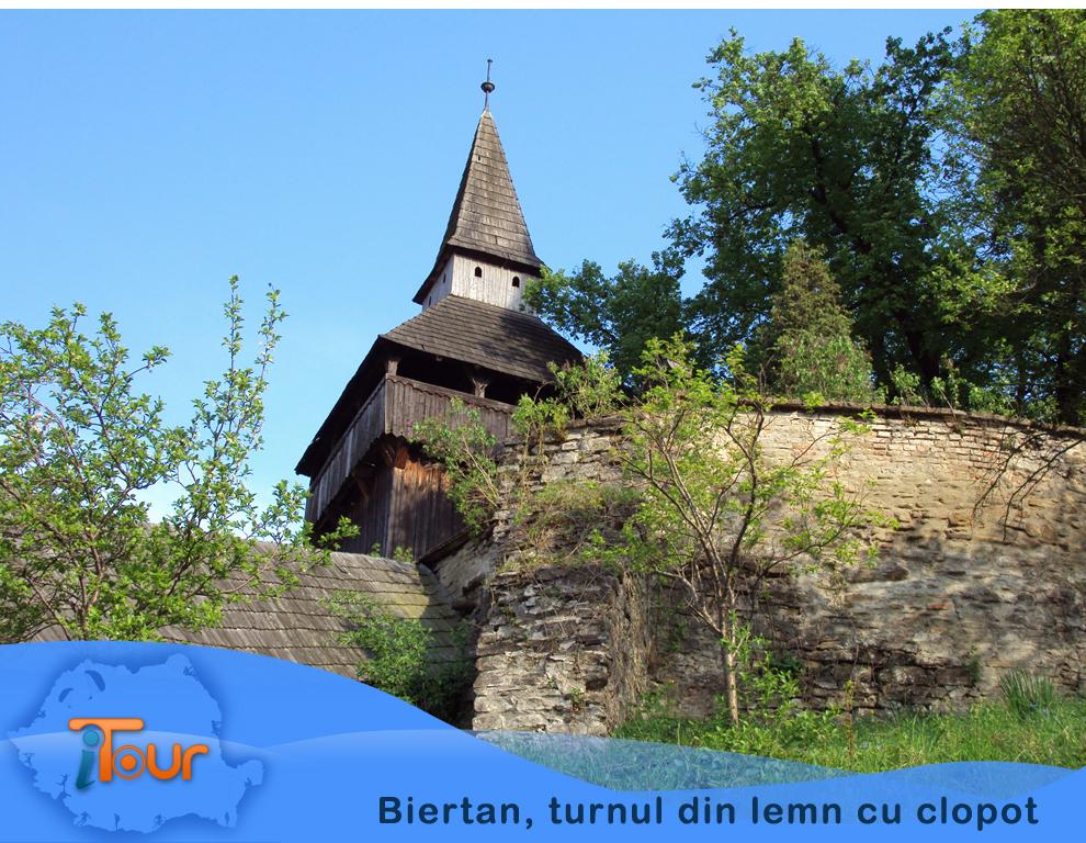 Biertan, turnul din lemn cu clopot