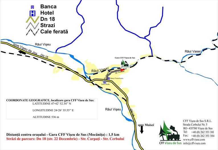Harta Gara CFF Viseu de Sus
