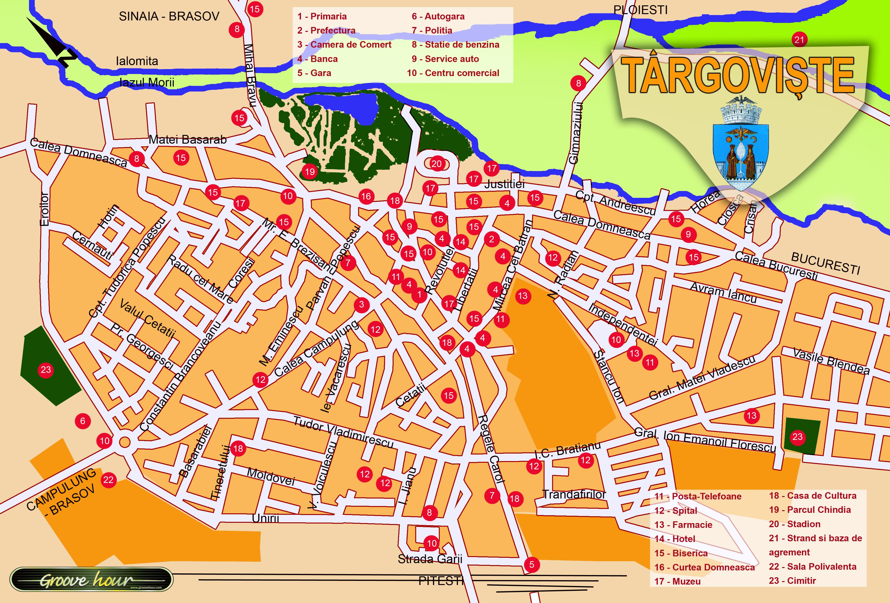 Harta Atractii Turistice Targoviste