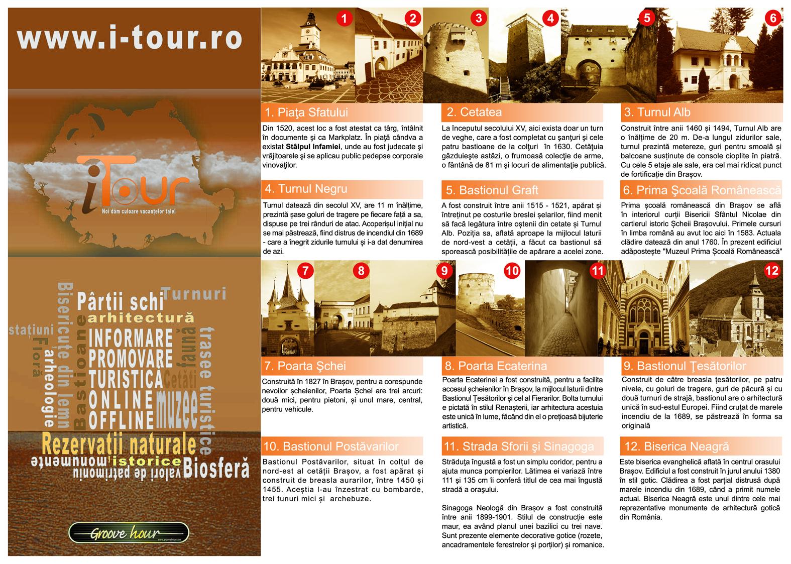 Brasov Centru Istoric - Traseu Turistic Prezentare