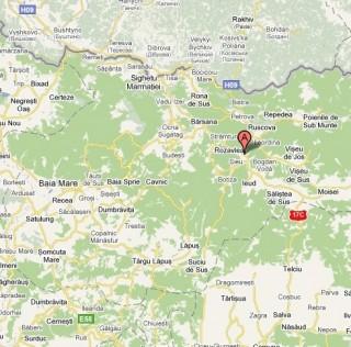 Rozavlea localizare pe harta