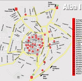 ALBA IULIA Harta Oras