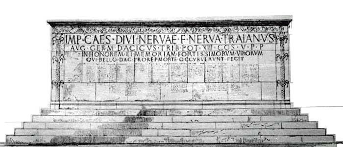 Altarul cu numele soldatilor romani