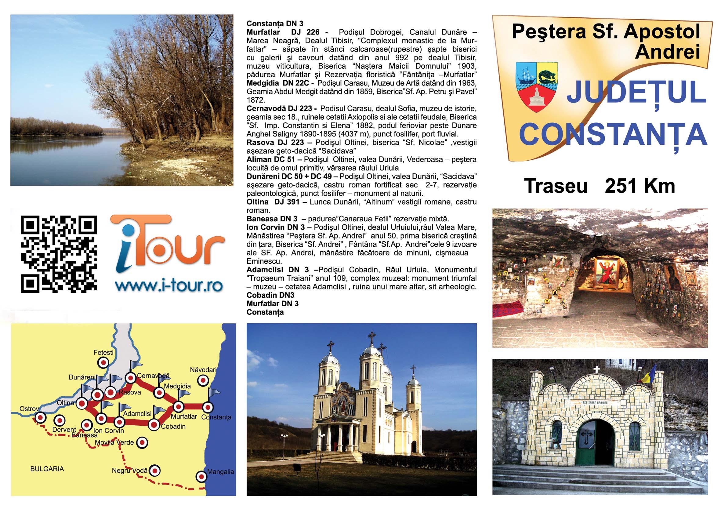 Traseu de o zi Constanta - Sf. Andrei (251 Km)