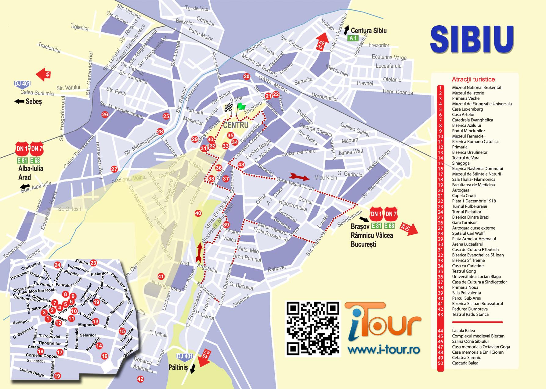 Traseu Sibiu Marsul Biciclistilor