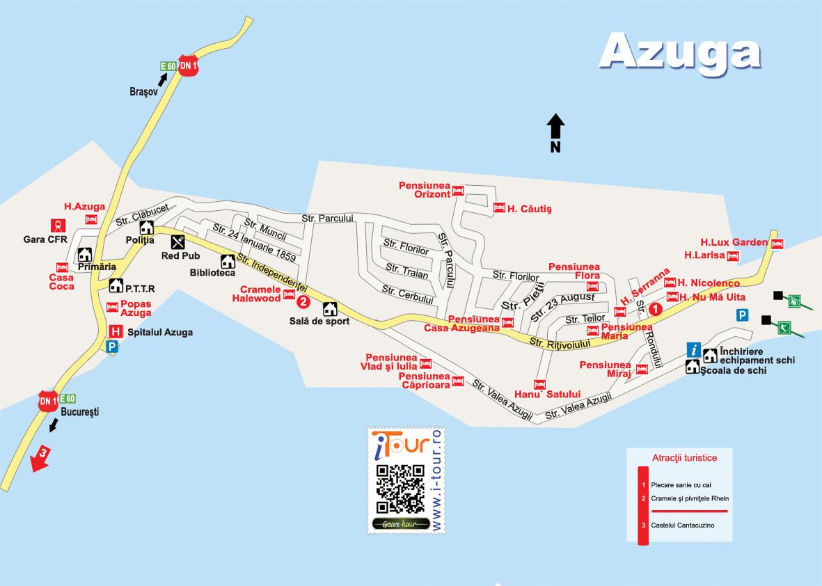Harta Atractii Turistice Azuga