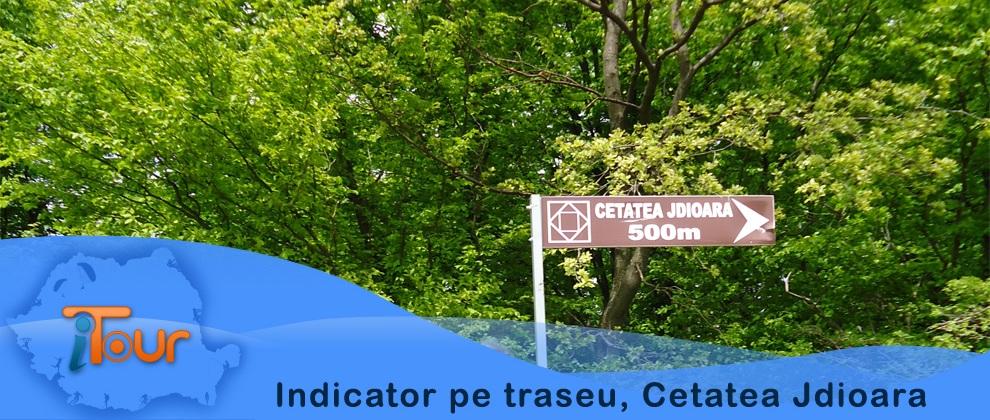 Indicator traseu, Cetatea Jdioara