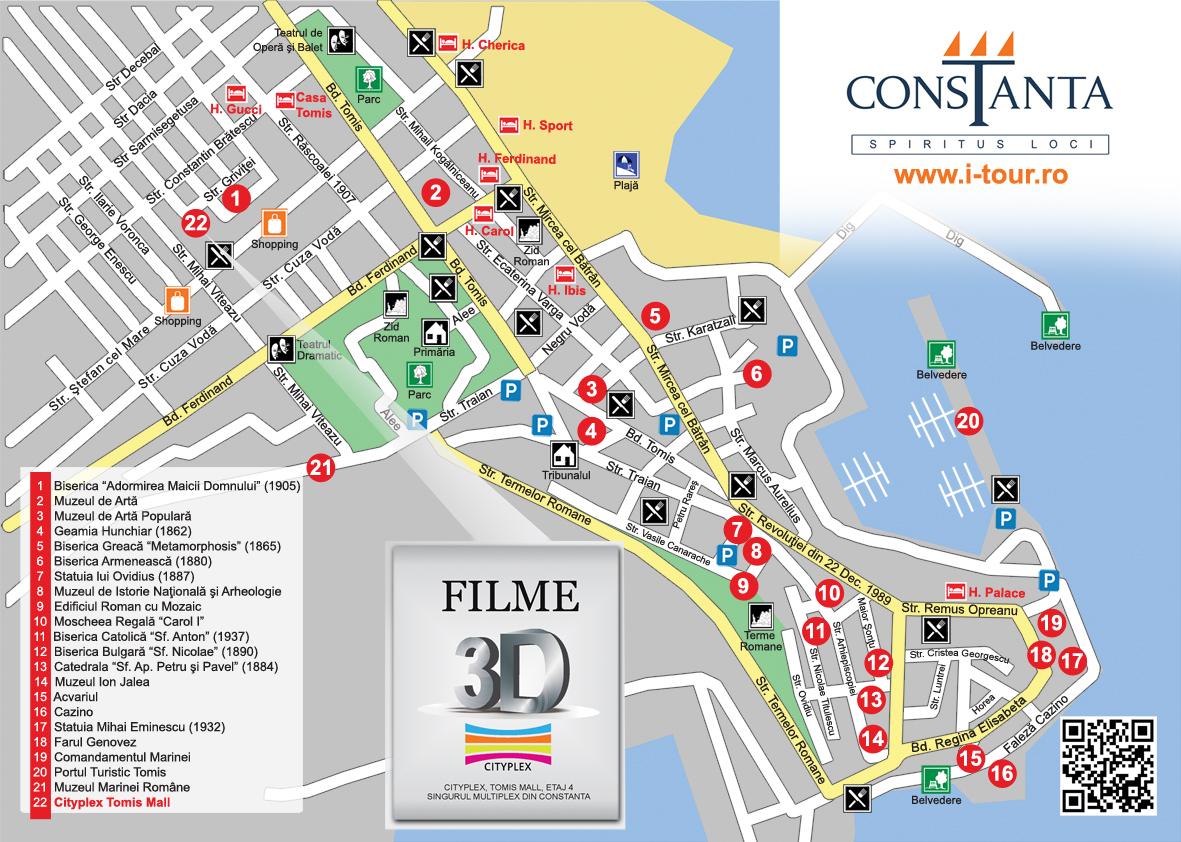 Constanta Zona Veche Harta Atractii Turistice