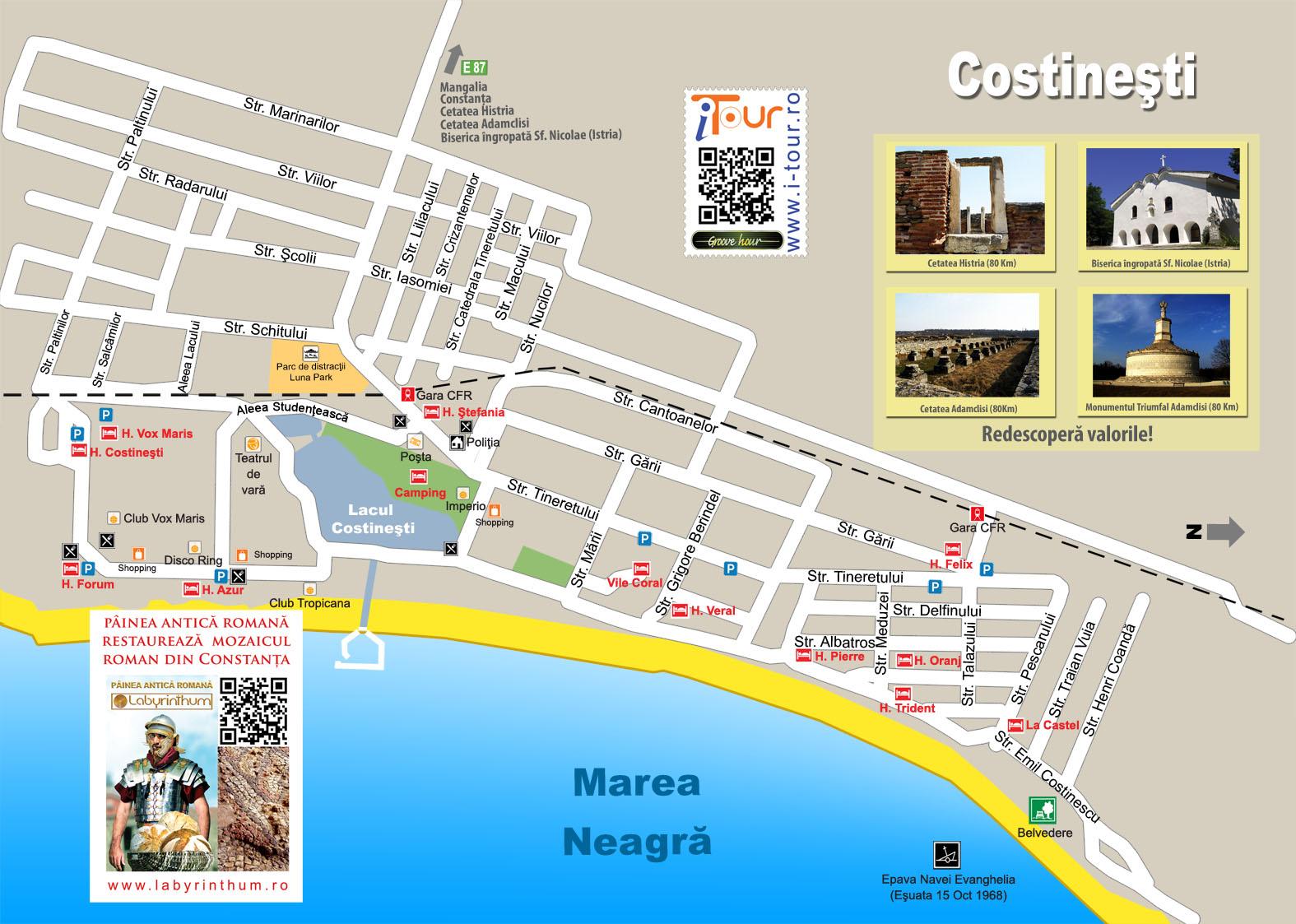 Harta Statiune Costinesti 2011