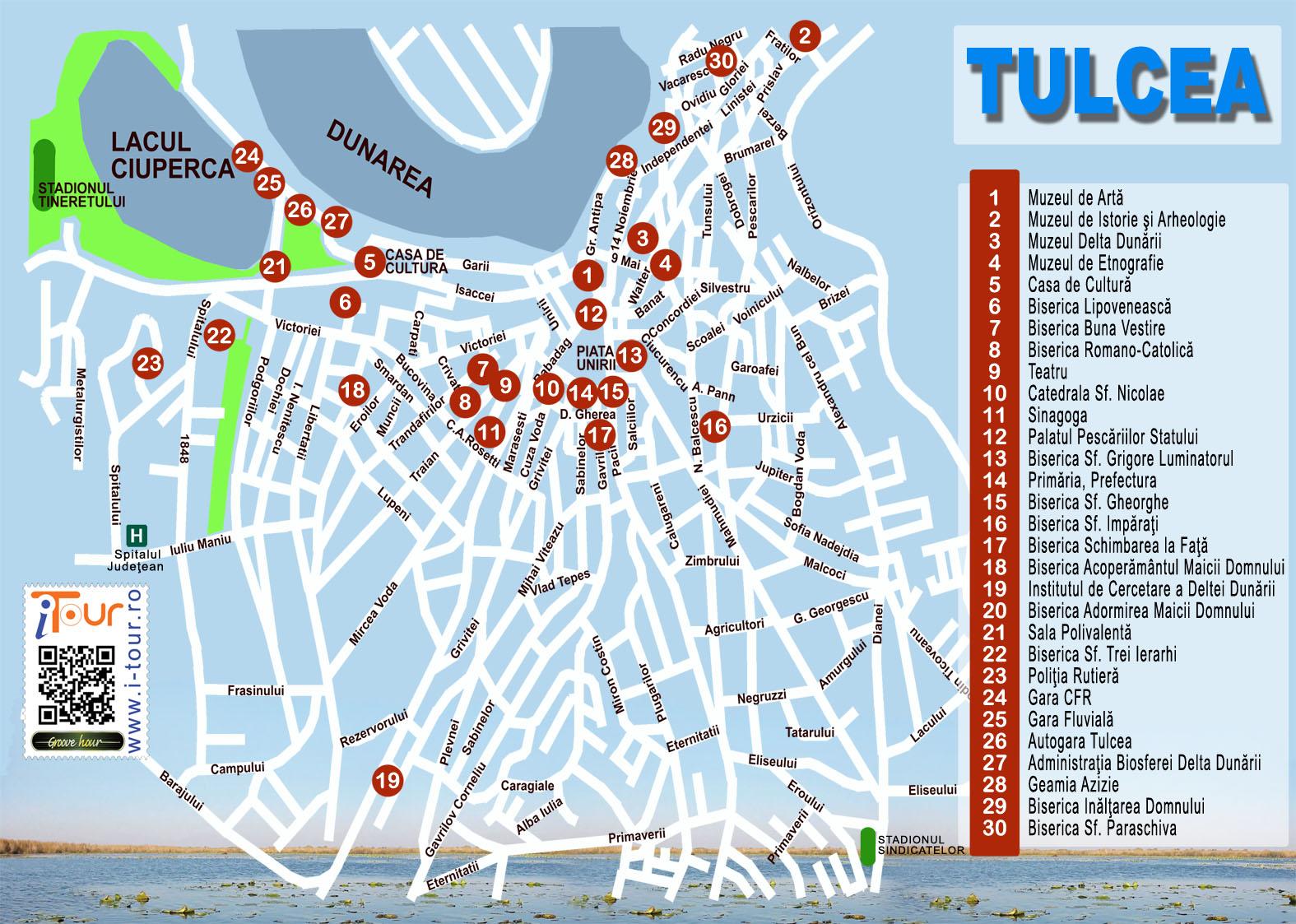 Tulcea Harta Atractii Turistice 2011