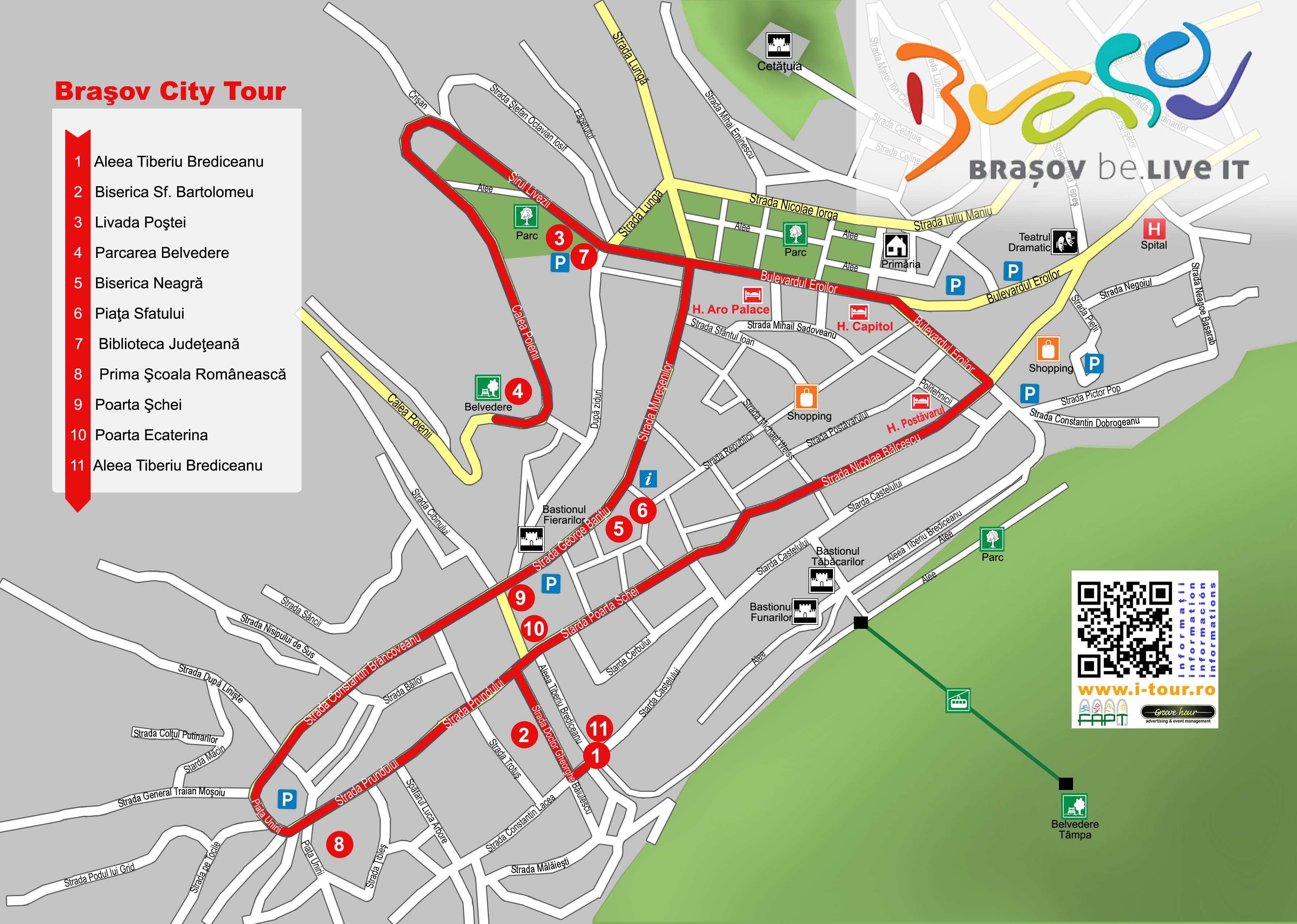 Harta Brasov I Tour Proiect Național De Promovare Turistică