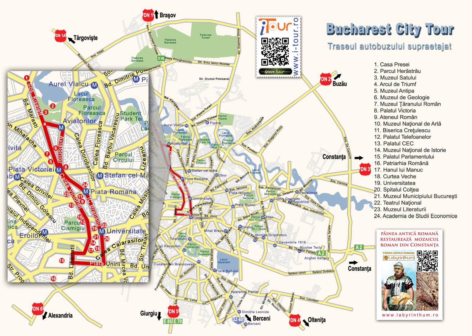 Harta Traseu Bucharest City Tour I Tour Proiect Național De