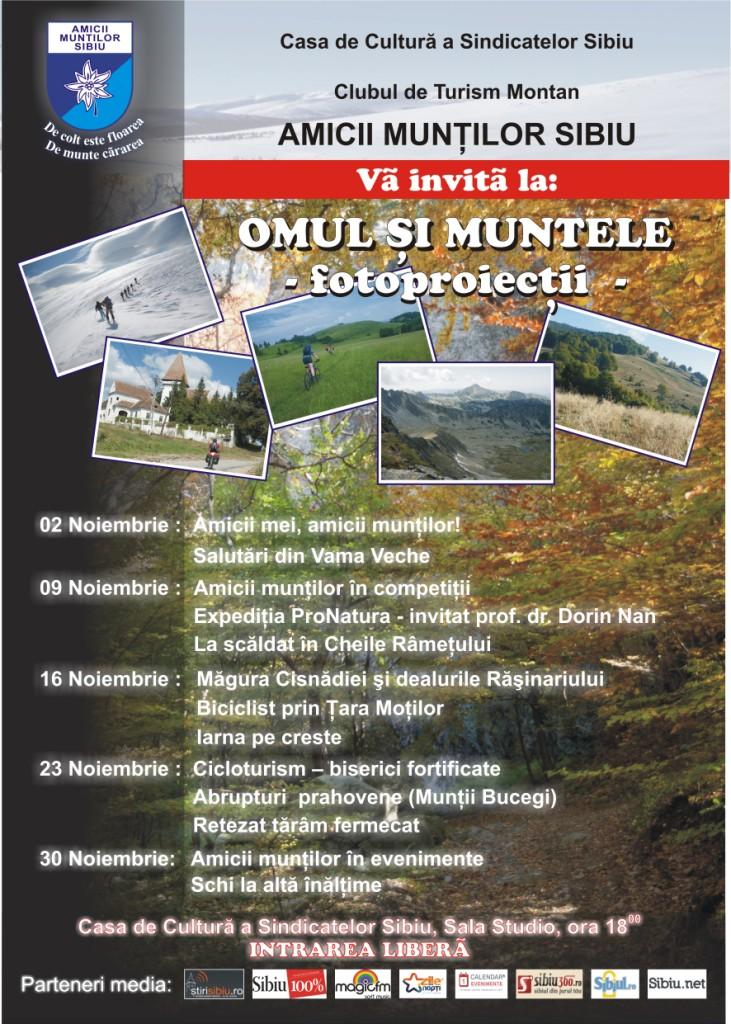 Afis Omul si Muntele 2011