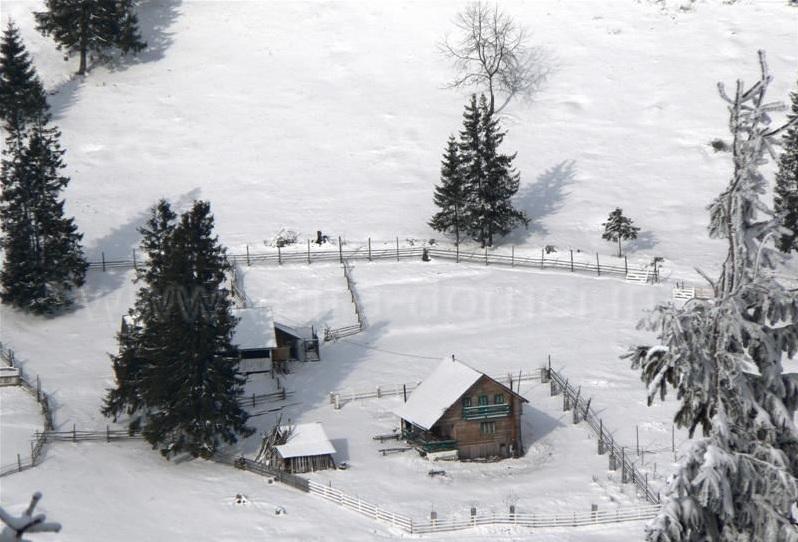 Peisaj traseu Vatra Dornei iarna