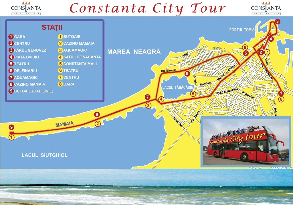 Harta Constanta City Tour