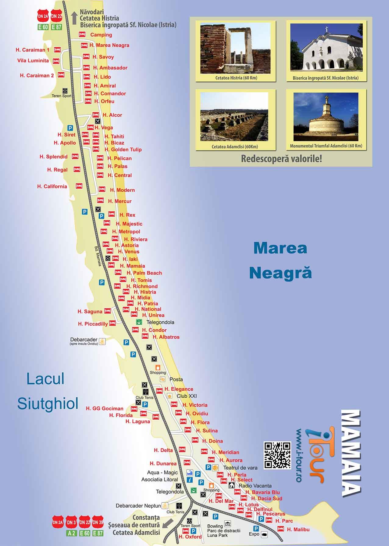 Harta Mamaia Plaja Si Alte Atractii Turistice I Tour Proiect
