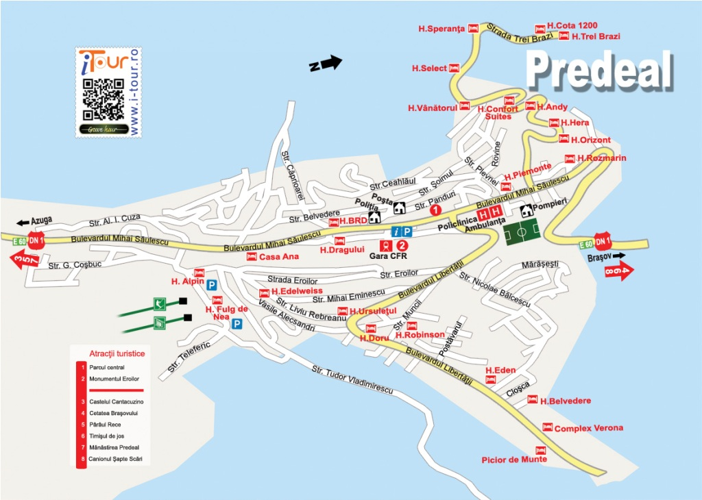 Harta Predeal obiective turistice