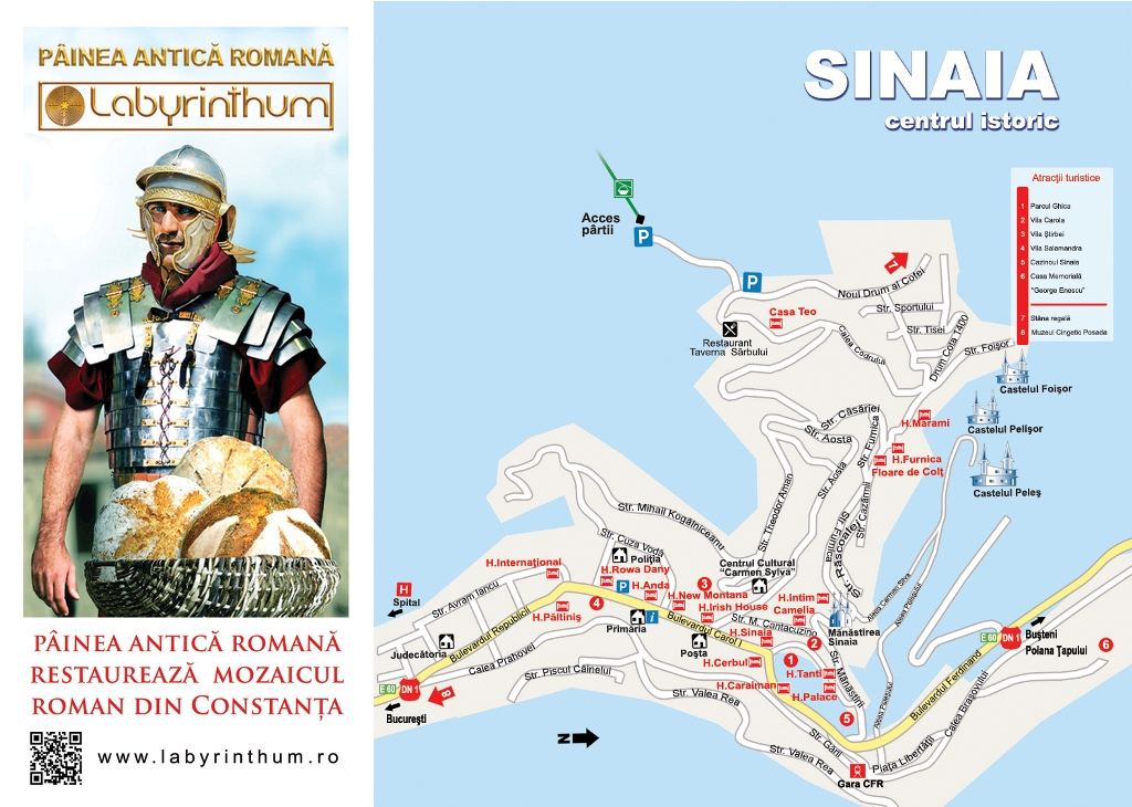 Harta Sinaia obiective turistice