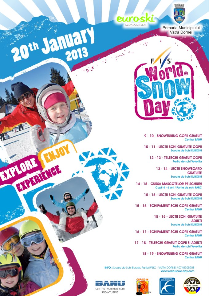 world snow day vatra dornei