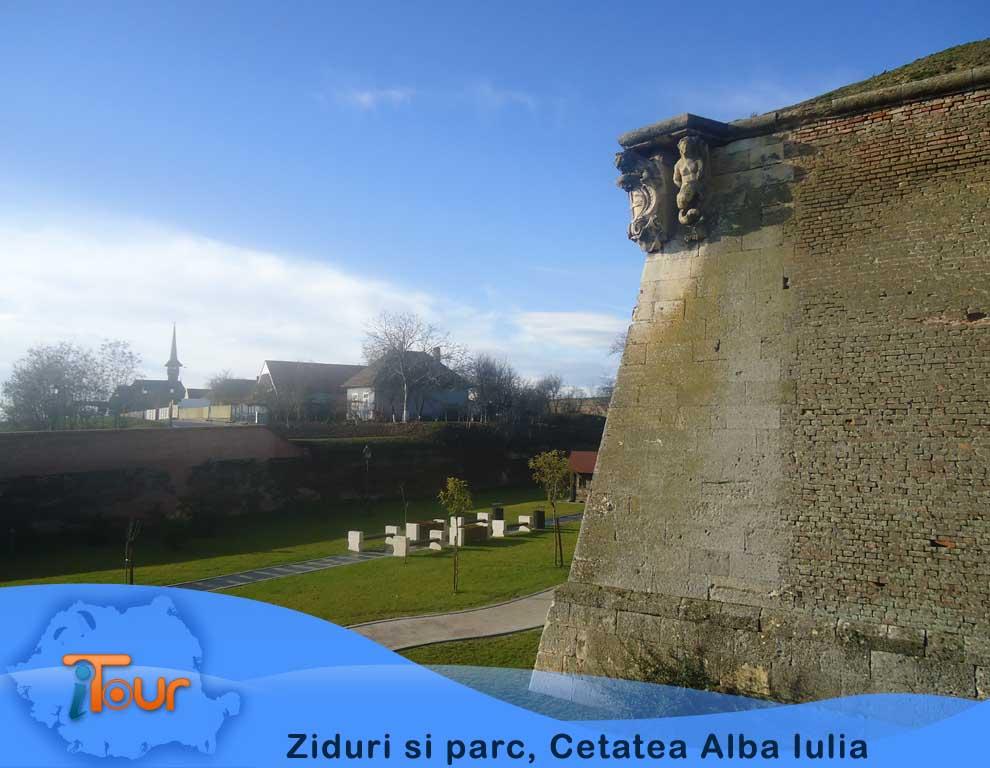 Ziduri si parc, Cetatea Alba Iulia