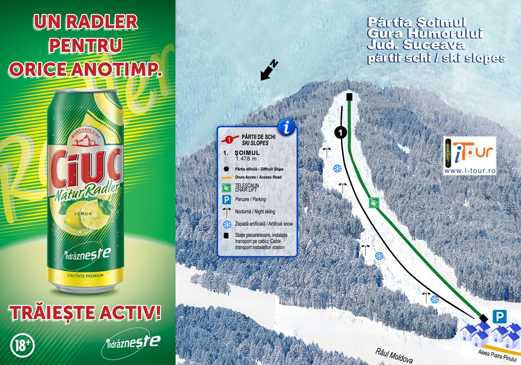 Harta partie schi Soimul, Gura Humorului, Suceava