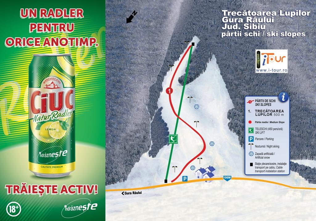 Harta, partie schi Trecatoarea Lupilor, Sibiu