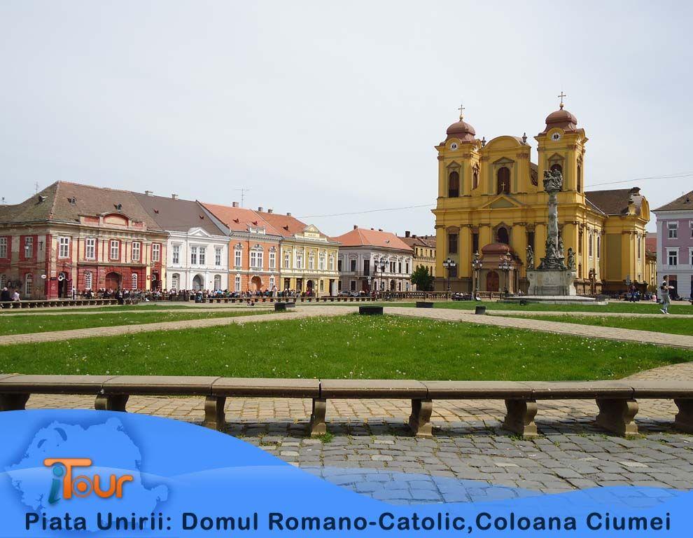 piata-unirii-domul-romano-catoliccoloana-ciumei