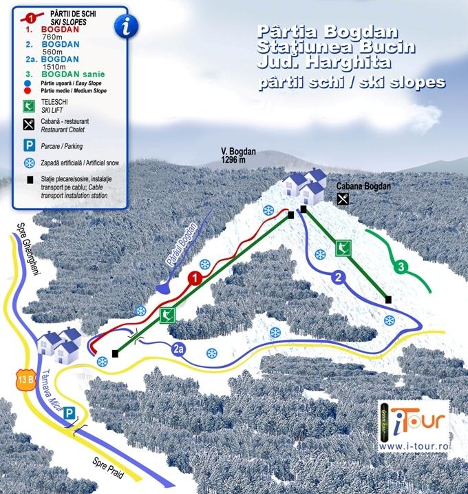 Harta partie schi Bogdan Bucin, Harghita