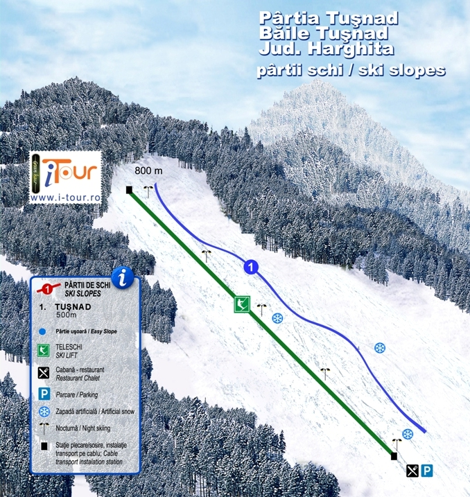 Harta partie schi Tusnad, Harghita