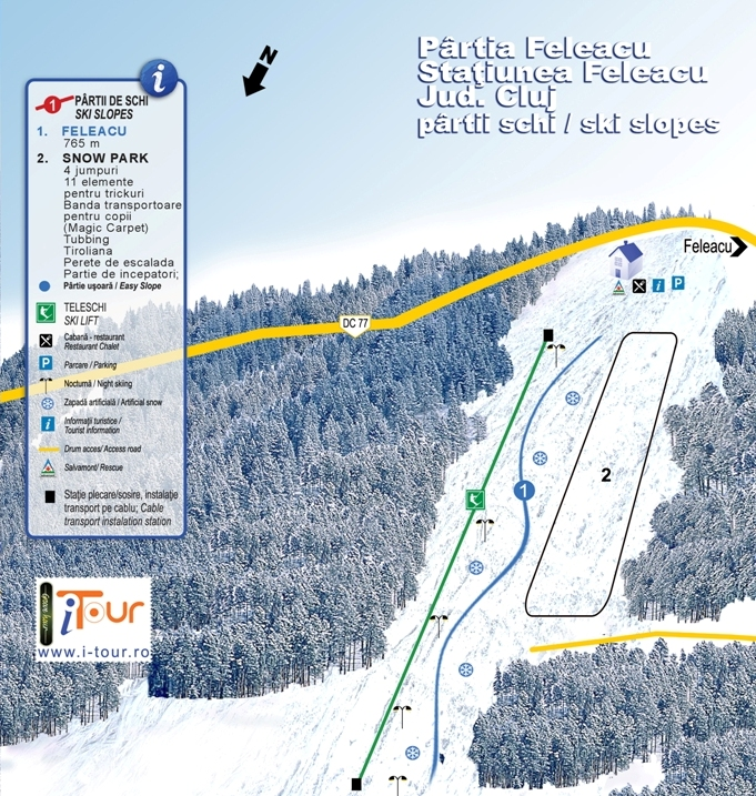 Harta partii Arena Schi Feleacu, Cluj