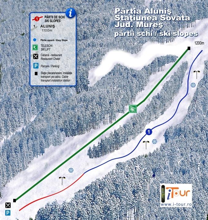 Harta partii schi Alunis, Sovata, Mures