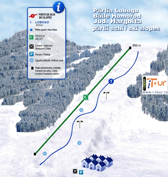 Harta partii schi Baile Homorod, Harghita