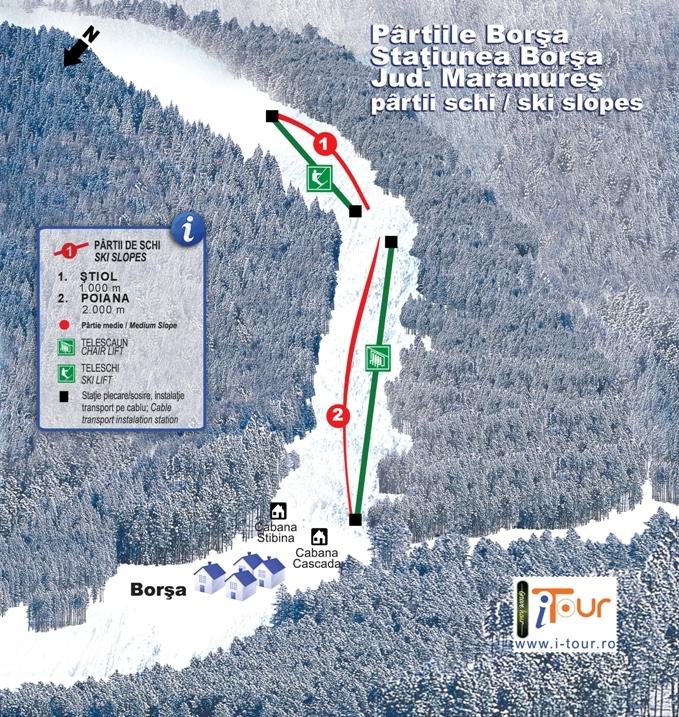 Harta partii schi Borsa, Maramures